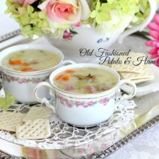 Old Fashioned Potato & Ham Soup and Family Pics