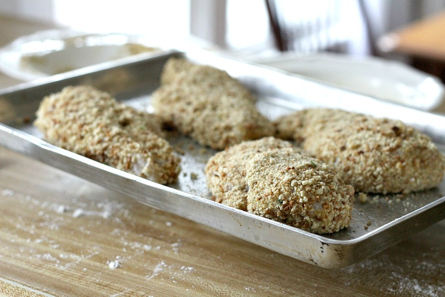 Oven-fried Chicken Breasts are moist on the inside with a nice crispy coating on the outside. That's hard to achieve using skinless, boneless chicken breasts and baking in the oven. Not with this recipe!