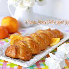 Orange Honey Pull-Apart Rolls