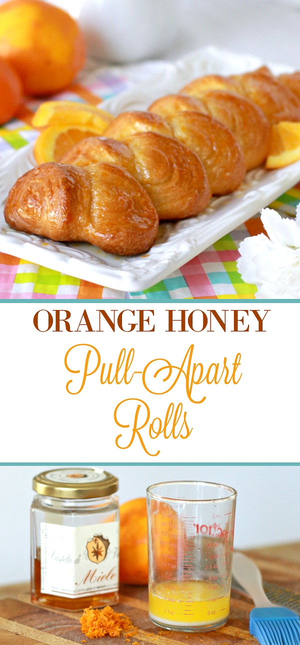 Orange Honey Pull-Apart Rolls are a pretty way to dress-up a can of crescent rolls. Brushed with a sweet orange glaze, they take just a few minutes of preparation yet burst with flavor.