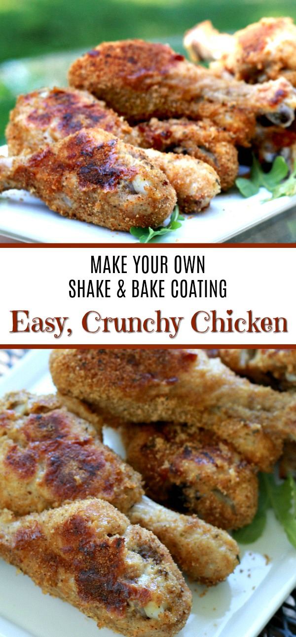 Easy recipe to make your own shake and bake coating for a no-frying delicious, crispy coating for poultry and pork right in the oven.