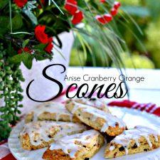 Anise Cranberry Orange Scones