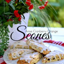 Anise Cranberry Orange Scones