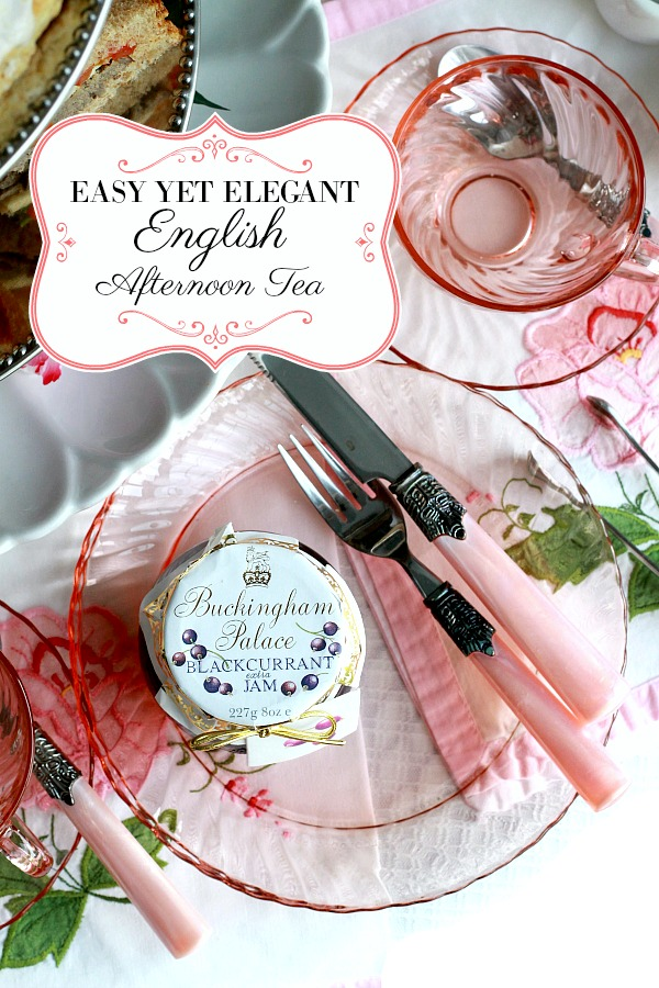 Easy to prepare an English Afternoon Tea just like you might have in London, England with scones,  petite sandwiches and of course, tea.