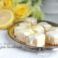 Buttery Shortbread Biscuits with optional Lemon Glaze