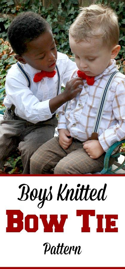 Knitted Bow Tie Pattern Grateful Prayer Thankful Heart