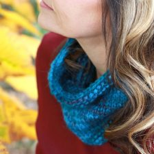 Knitted Alpaca Cowl