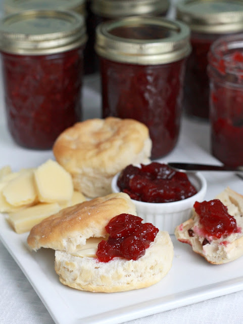 Easy recipe for homemade cranberry sauce made with orange juice and zest is the best tasting. Serve at Thanksgiving but also delicious with pork and ham.