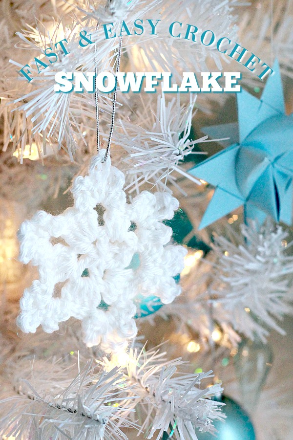Pretty crochet snowflake is intricate and yet easy to make. Use as an ornament, gift embellishment or window decoration. Great video how-to.