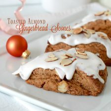 Toasted Almond Gingerbread Scones
