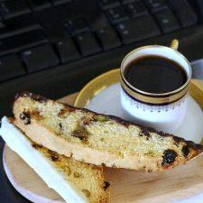 Delicious Coffee Break Treat ~ Pistachio Cherry Biscotti