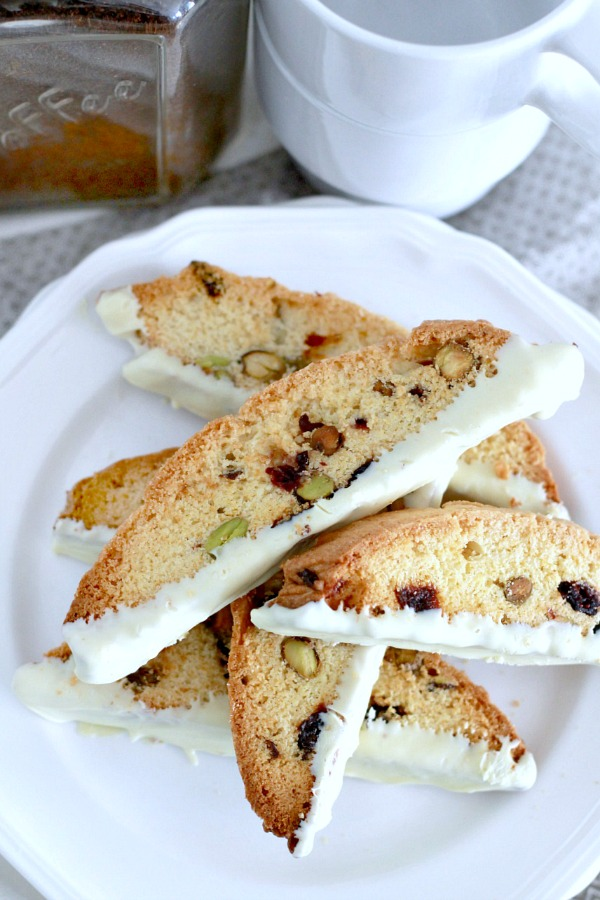 There's nothing better than a crunchy biscotti with your favorite beverage and Pistachio Cherry Biscotti is a perfect treat. You'll love this easy recipe!