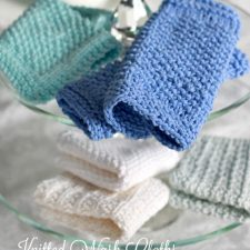 Pretty Knitted Washcloths & Cool Doctor Who Washcloths