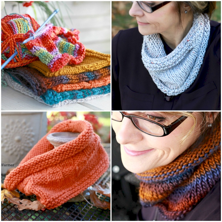 Knitted Boot Cuffs with matching cowl, neck warmer are both warm, stylish and easy to make even for a beginner. Easy pattern and lovely made as gifts.