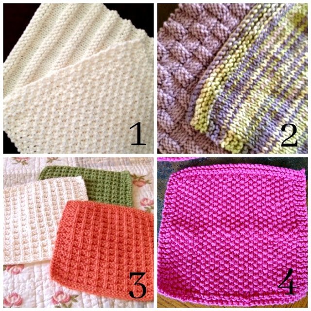 Thick, soft and durable, pretty knitted washcloths & cool Doctor Who washcloths are quick and easy to make. Free patterns for sweet gifts.
