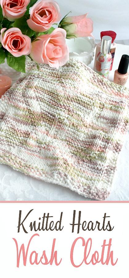 A Heartfelt Gift ~ Knitted Heart Wash Cloth | Grateful Prayer ...