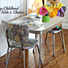 Vintage Childhood Chrome Table and Chairs Restoration