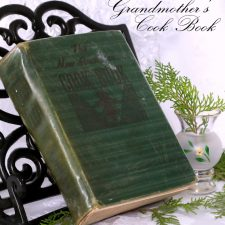 Grandmother's Vintage Cookbook Cottage Cheese Pie