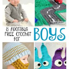 8 Adorable {FREE} Crochet Patterns for BOYS