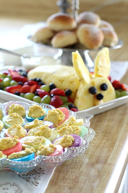 Easter Brunch Bunny Pineapple fruit tray