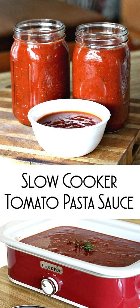 A delicious slow cooker tomato pasta sauce is perfect for those busy days and you still need a meal to feed the hungry. Ladle over your favorite pasta.
