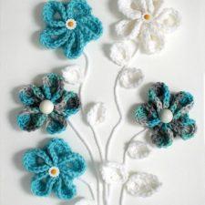 Easy Springtime Crochet Flower Wall Art