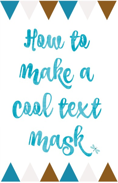 Creating a cool Text Mask is so easy! Follow these clear instructions and you will be making text mask for many of your craft and photo projects.