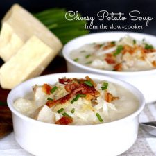 Cheesy Potato Soup from the Slow Cooker