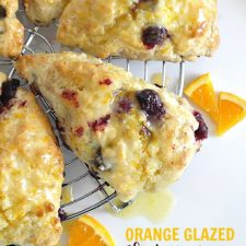 Blueberry Scones with Orange (or Lemon) Glaze