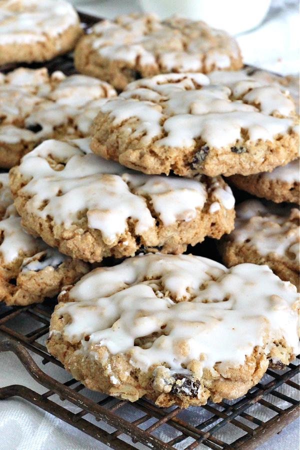 Grandma's Iced oatmeal raisin cookie recipe.