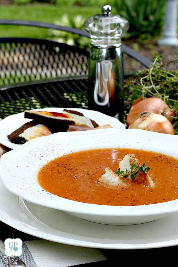Use those beautiful summer ripe tomatoes from your garden or the market to make Homemade Garden Fresh Tomato Soup.