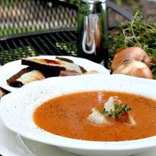 Homemade Garden Fresh Tomato Soup