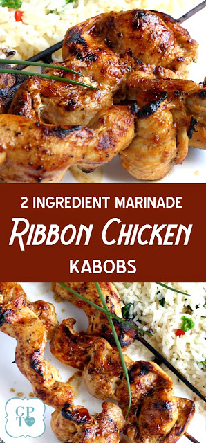 You won't believe how easy it is to make grilled chicken kabobs and how moist and tender they are! Just two ingredients ~ that's it!