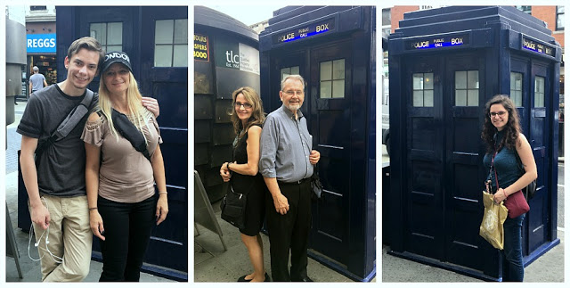 Dr Who blue tardis London