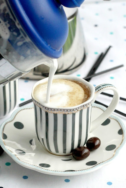 espresso at home with frother milk