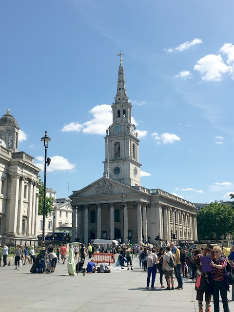Keep Calm and Love London, travel from Heathrow Airport to Trafalgar Square, the National Gallery, the National Portrait Gallery & St Martins in the Fields.