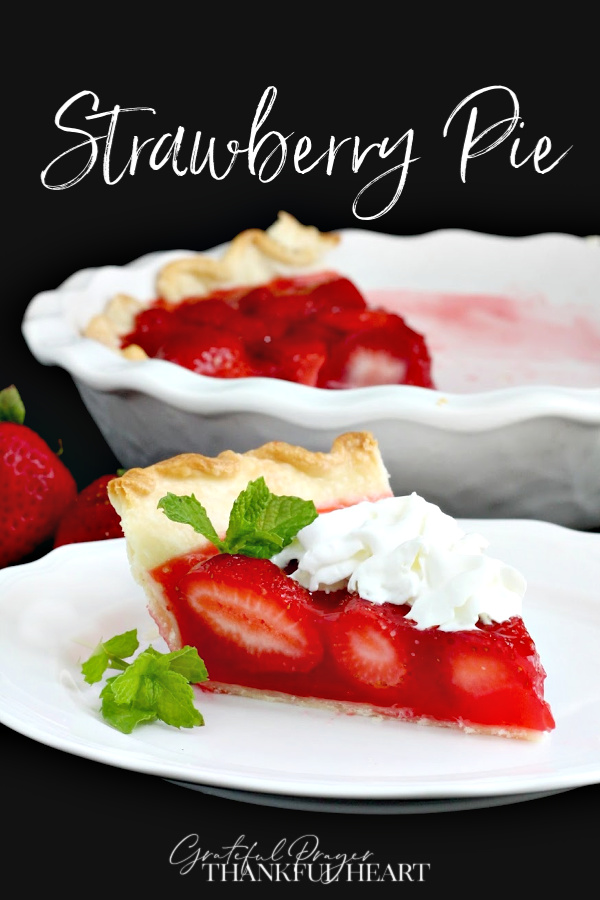 Easy recipe for Fresh Strawberry Pie. Bursting  with berries in a sweet Jello filling and served with whipped cream.