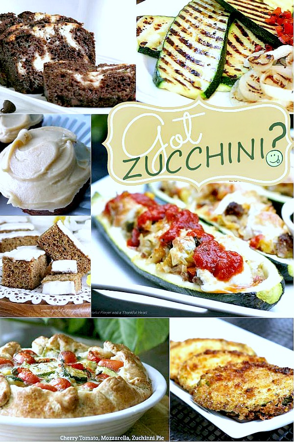 Enjoy summer zucchini as a healthy ingredient in meatballs, cupcakes, pie, bread, Ratatouille and zucchini boats. Great recipe collection with lots of ideas.