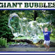 Making Memories and GIANT Bubbles with Kids