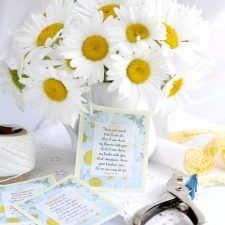 Shasta Daisies and Free Printable Gift Tags