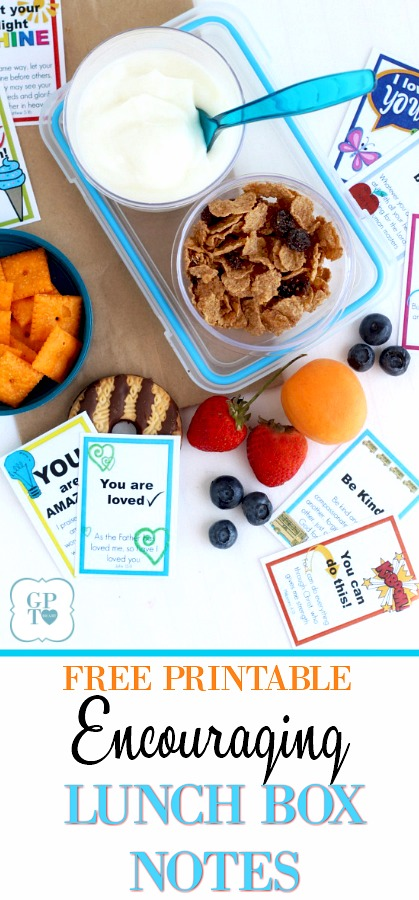 FREE printable lunch box notes and cards to encourage kids in school. Inspirational bible verses.