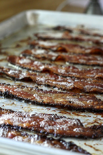 Oven baking method to cook bacon
