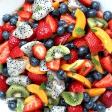 Dragon Fruit Salad with Honey Lime Dressing