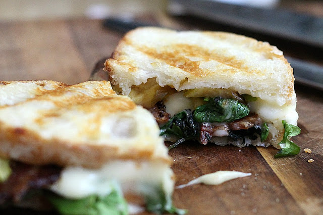 Take grilled cheese to another level with the addition of bacon, figs and greens. Great flavor combines with melt-y cheese and grilled to golden perfection.
