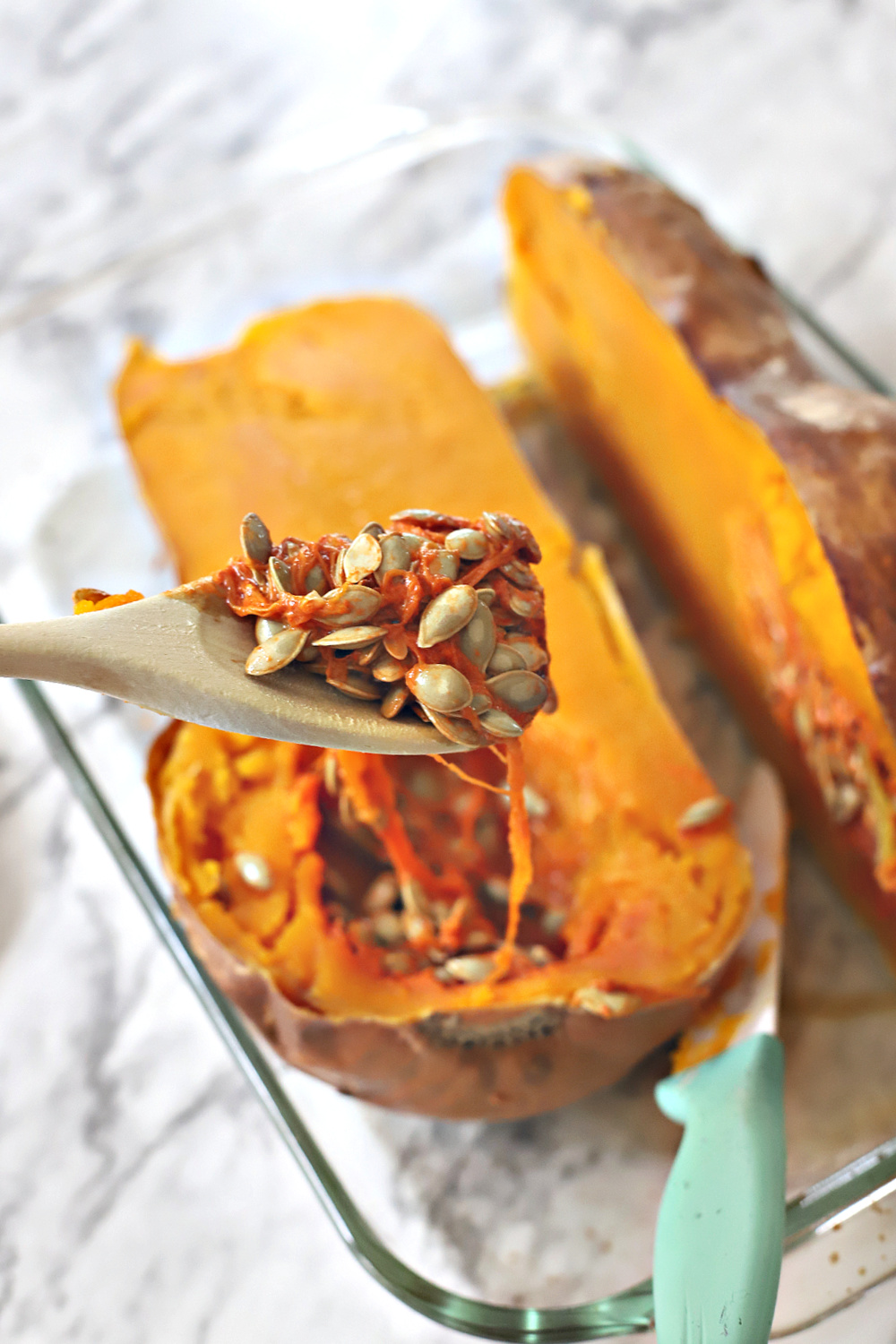 How to roast a Butternut Squash for soup