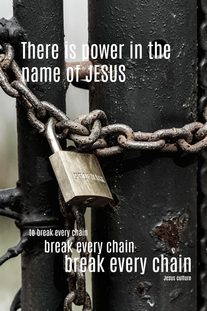 Hope. Truth. There is power in the Name of Jesus. To break every chain. Every chain. Video and song lyrics from Jesus culture.