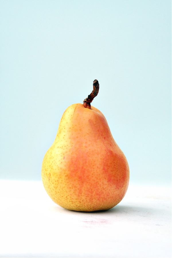 Beautiful pear for spiced pear, banana and walnut muffin recipe.