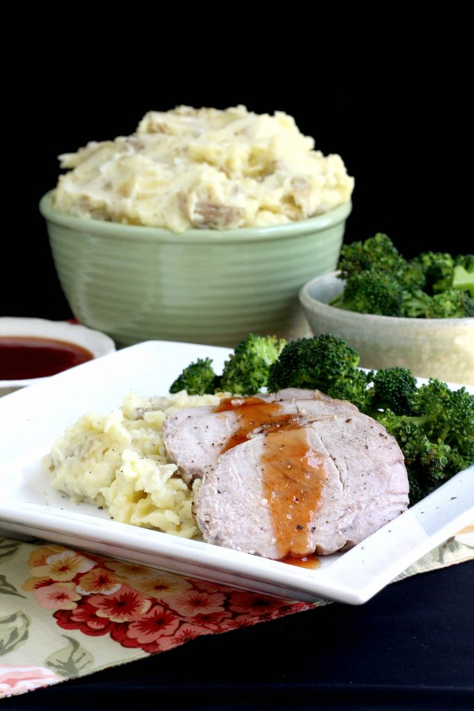 Making an old-fashioned Sunday dinner meal isn't as hard as you think. Serve easy pork roast with sweet & sour sauce, mashed potatoes and steamed broccoli and wait for the smiles.