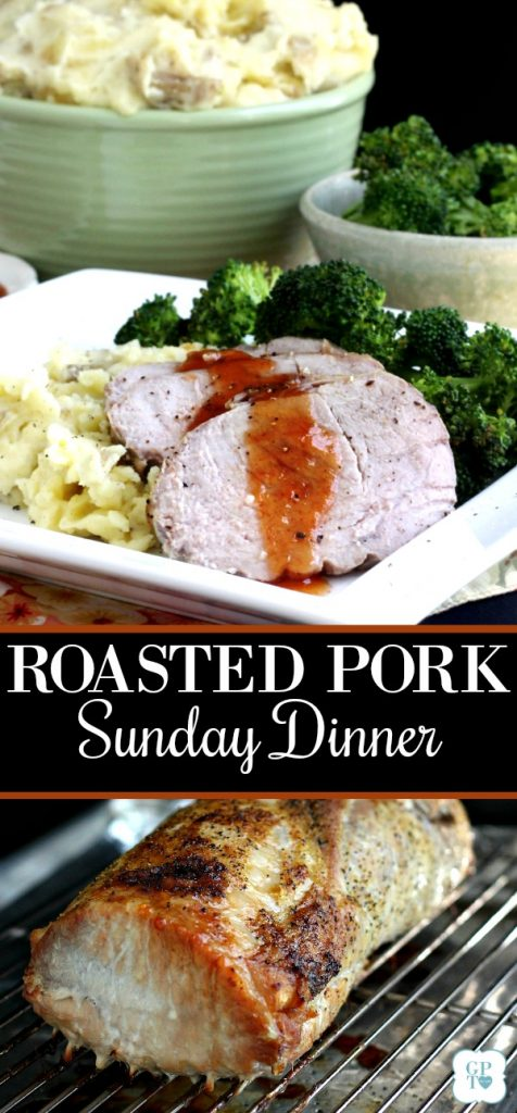 Making an old-fashioned Sunday dinner meal isn't as hard as you think. Serve easy pork roast with sweet and sour sauce, mashed potatoes and steamed broccoli and wait for the smiles.