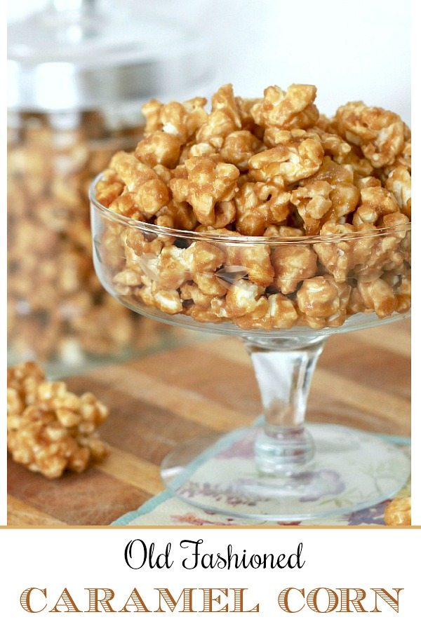 An easy recipe for sweet and crunchy caramel corn. Make your own and package in individual bags. Tie with a bow for sweet holiday gifts.